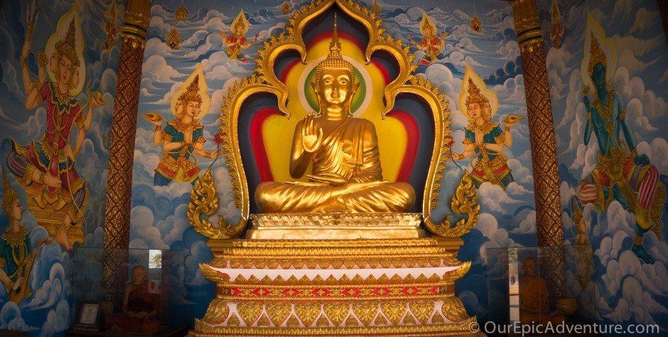 vientiane laos technicolor buddha