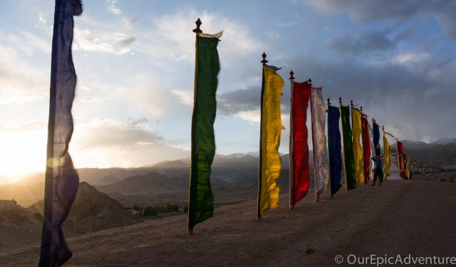 The sound of prayer flags in the wind